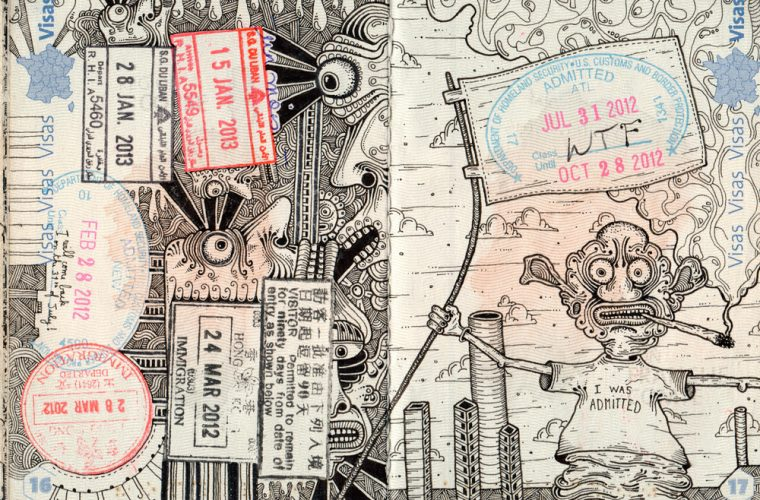 Passport Doodles by Léonard Combier