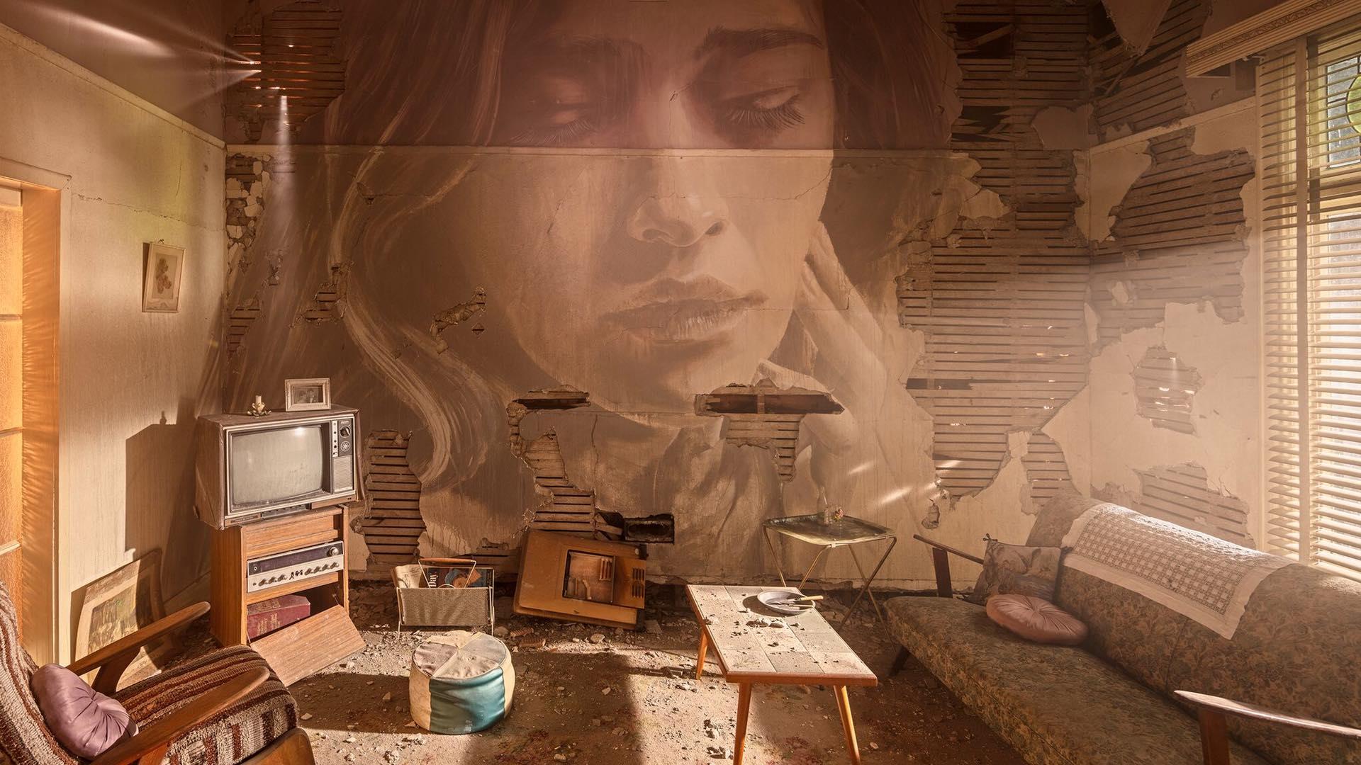La decadenza incontra la bellezza nel progetto Omega dello street artist Rone | Collater.al
