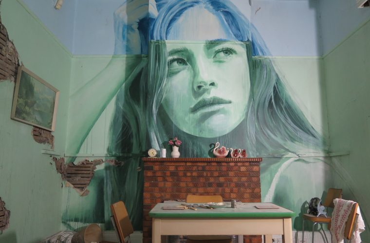 Decay meets beauty in The Omega Project by street artist Rone
