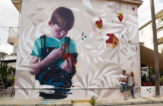 Deep Blue, Bifido and Julieta'mural in Greece
