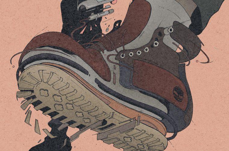 L'illustrazione Sci-Fi di Dirty Robot per Timberland Yellow Boot