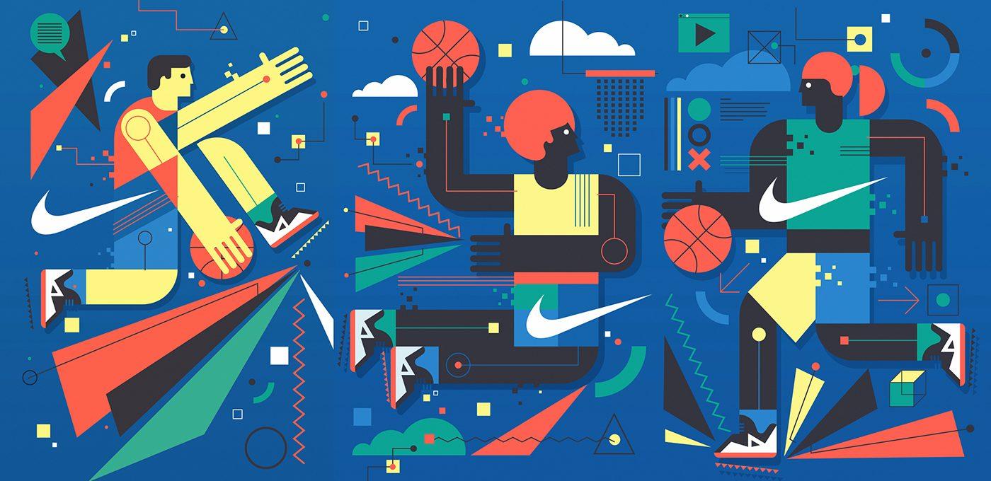 Il murales di Neil Stevens per Nike a Barcellona