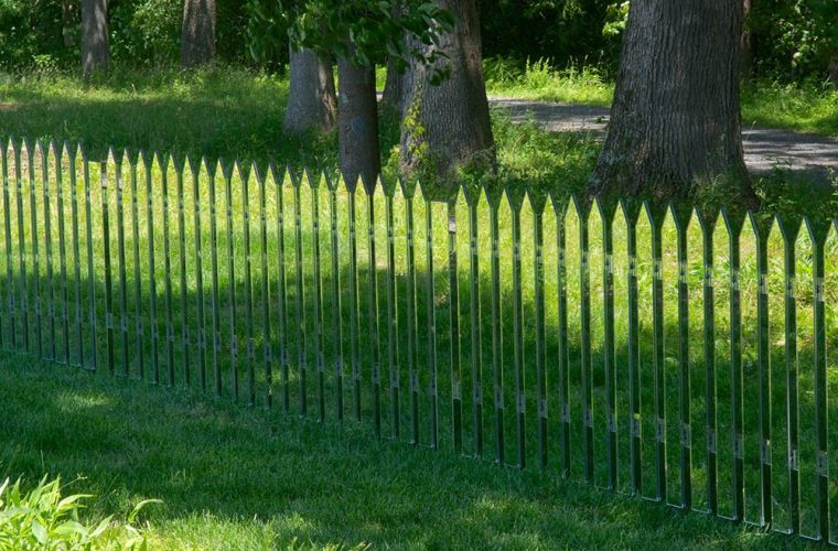 Mirror Fence, Alyson Shotz's free fences
