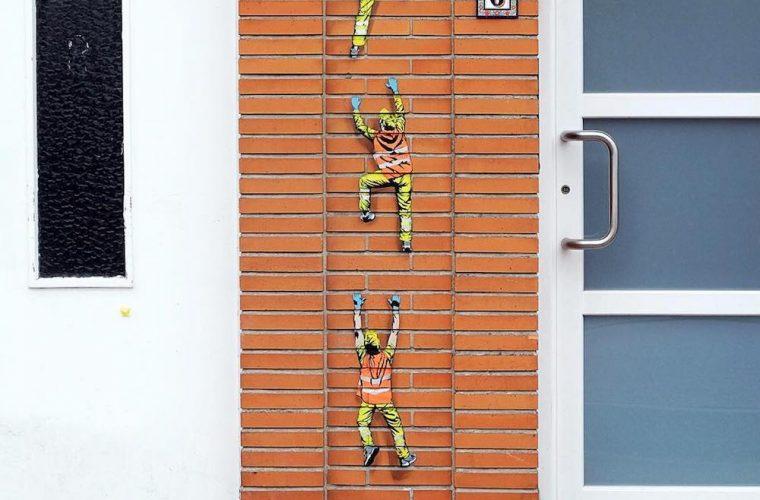 I mini lavoratori dello street artist Jonathan Pauwels aka Jaune