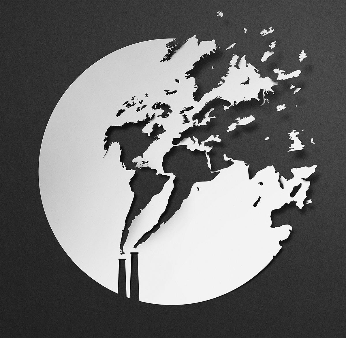 La paper art minimale di Eiko Ojala | Collater.al 12