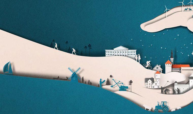 La paper art minimale di Eiko Ojala