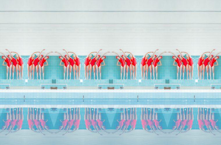 Le piscine e le nuotatrici sovietiche di Maria Svarbova