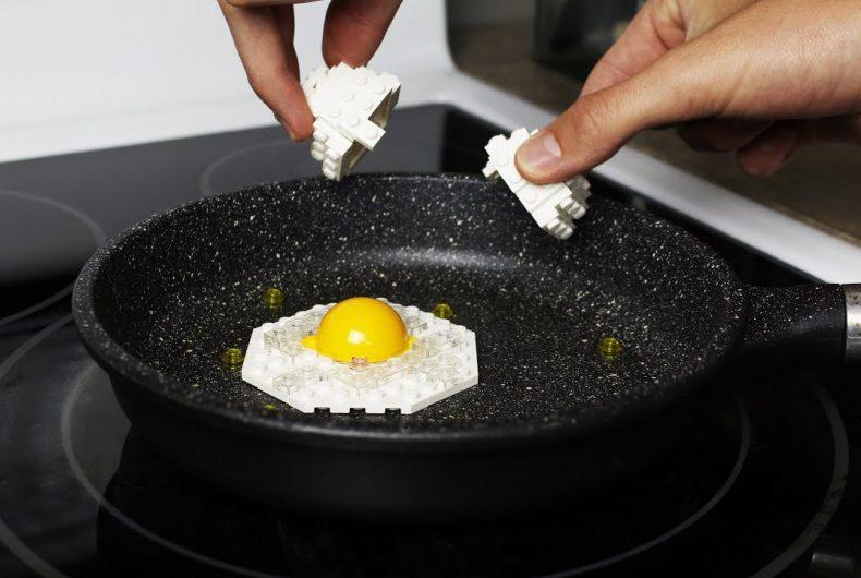 Short video for Breakfast – Lego fried eggs for breakfast