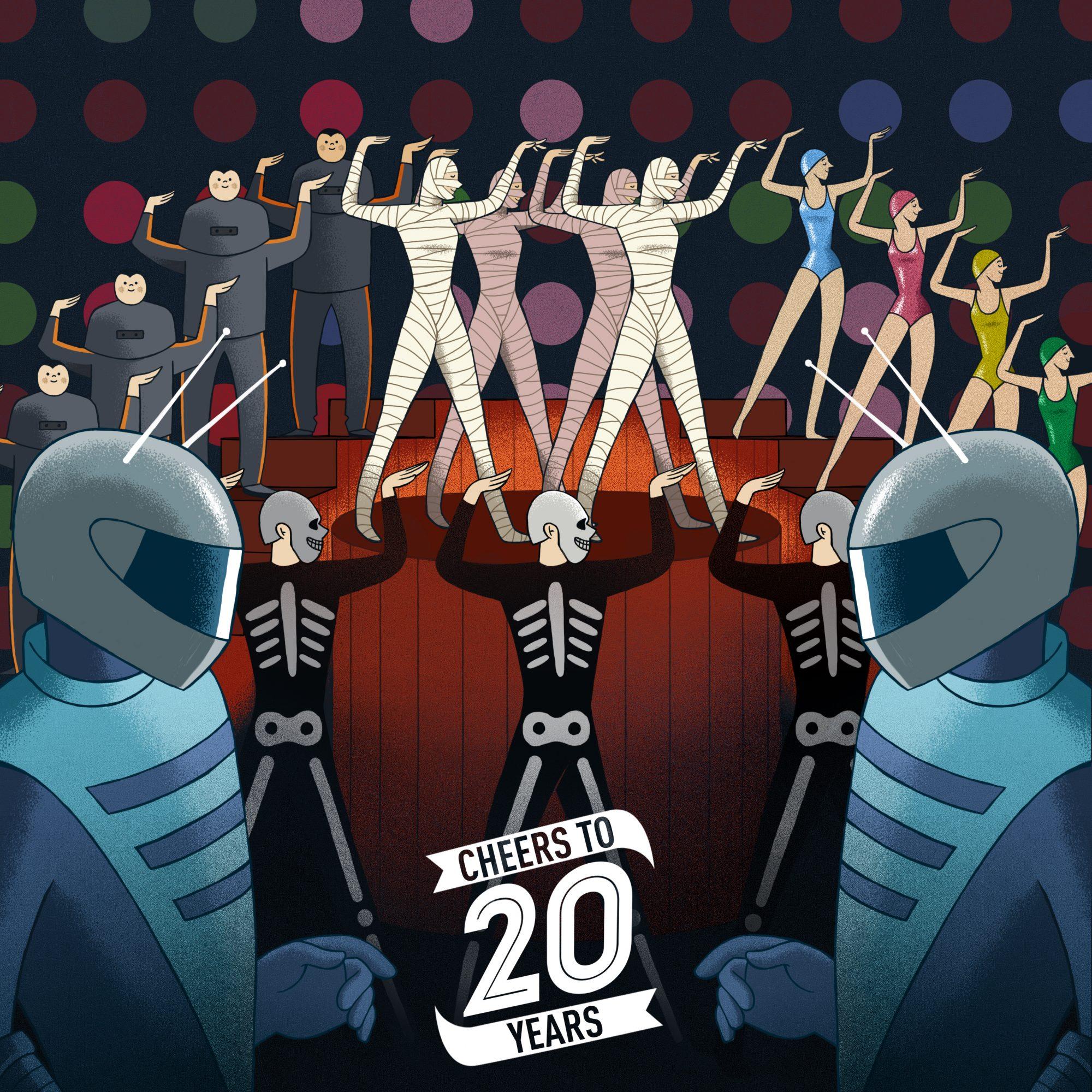 Cheers to 20 Years, le band illustrate da Massimiliano Aurelio | Collater.al