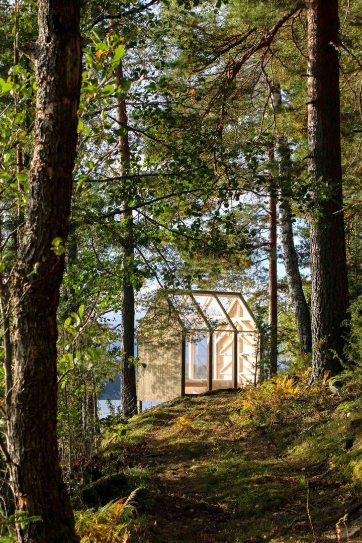 72h cabin piccole case immerse nella natura dell isola di for Piccole case di rinascita greca