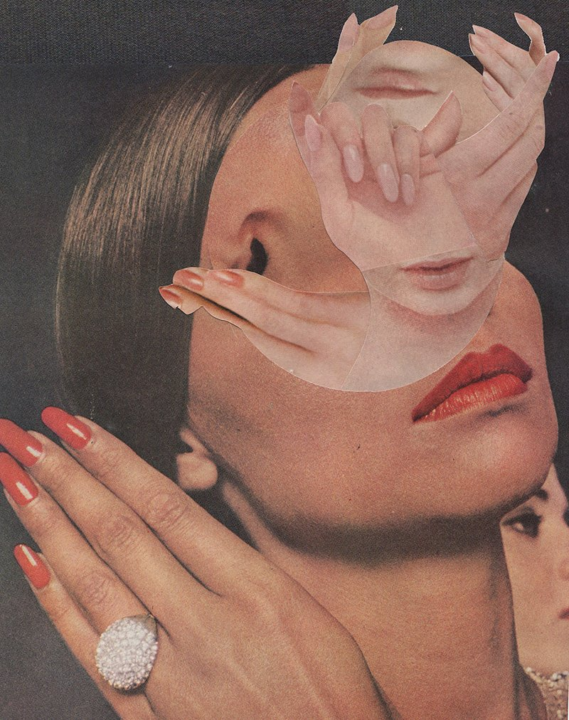 Amanda Durepos turns vintage magazines into fanciful collage