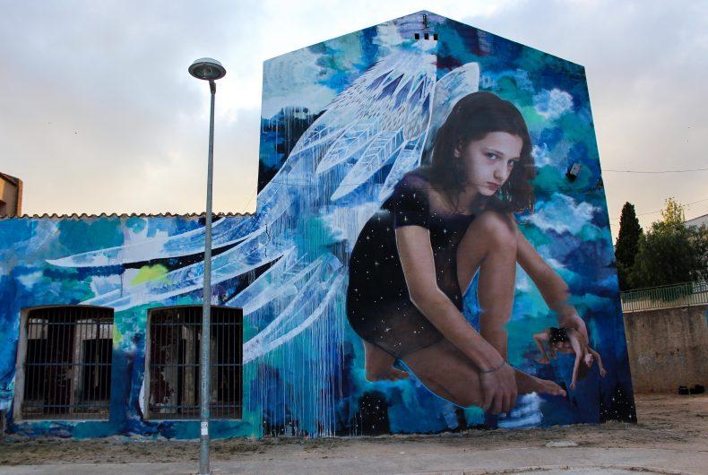 Ego, il nuovo murale di Bifido e Julieta che indaga il rapporto fra uomo e spiritualità