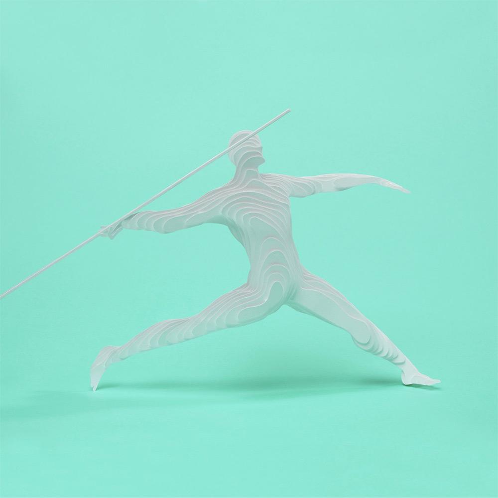 Le discipline olimpiche della paper artist Raya Sader Bujana | Collater.al 6