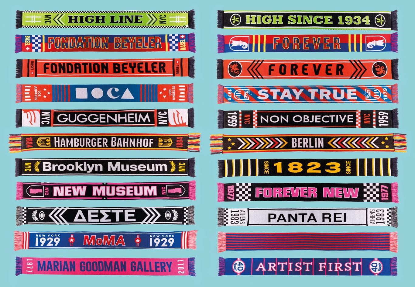 Museums League, le sciarpe dedicate ai musei di Maurizio Cattelan | Collater.al 2