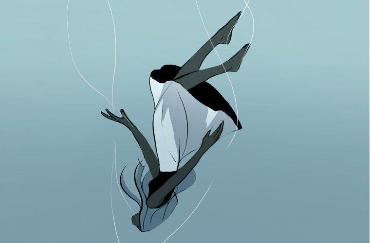 Falling girls, le eleganti illustrazioni di Manddy Wyckens