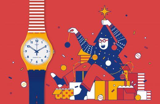 L'illustrazione natalizia di Nico189 per Swatch