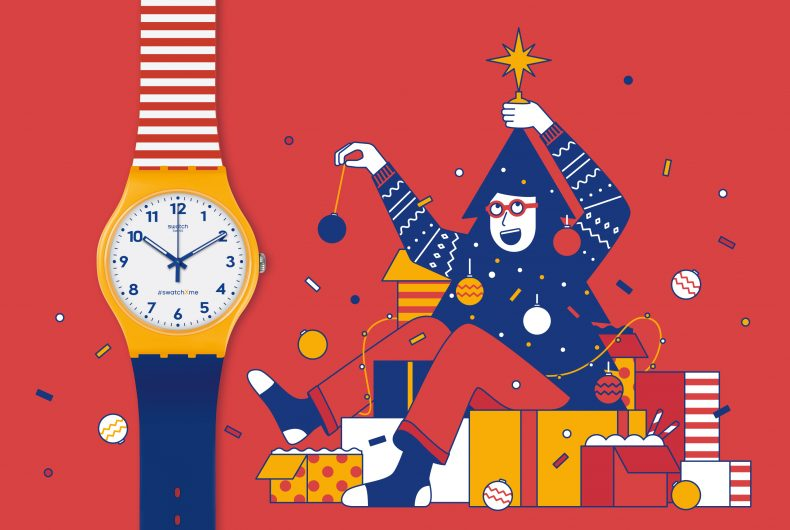 Nico189 Christmas illustration for Swatch