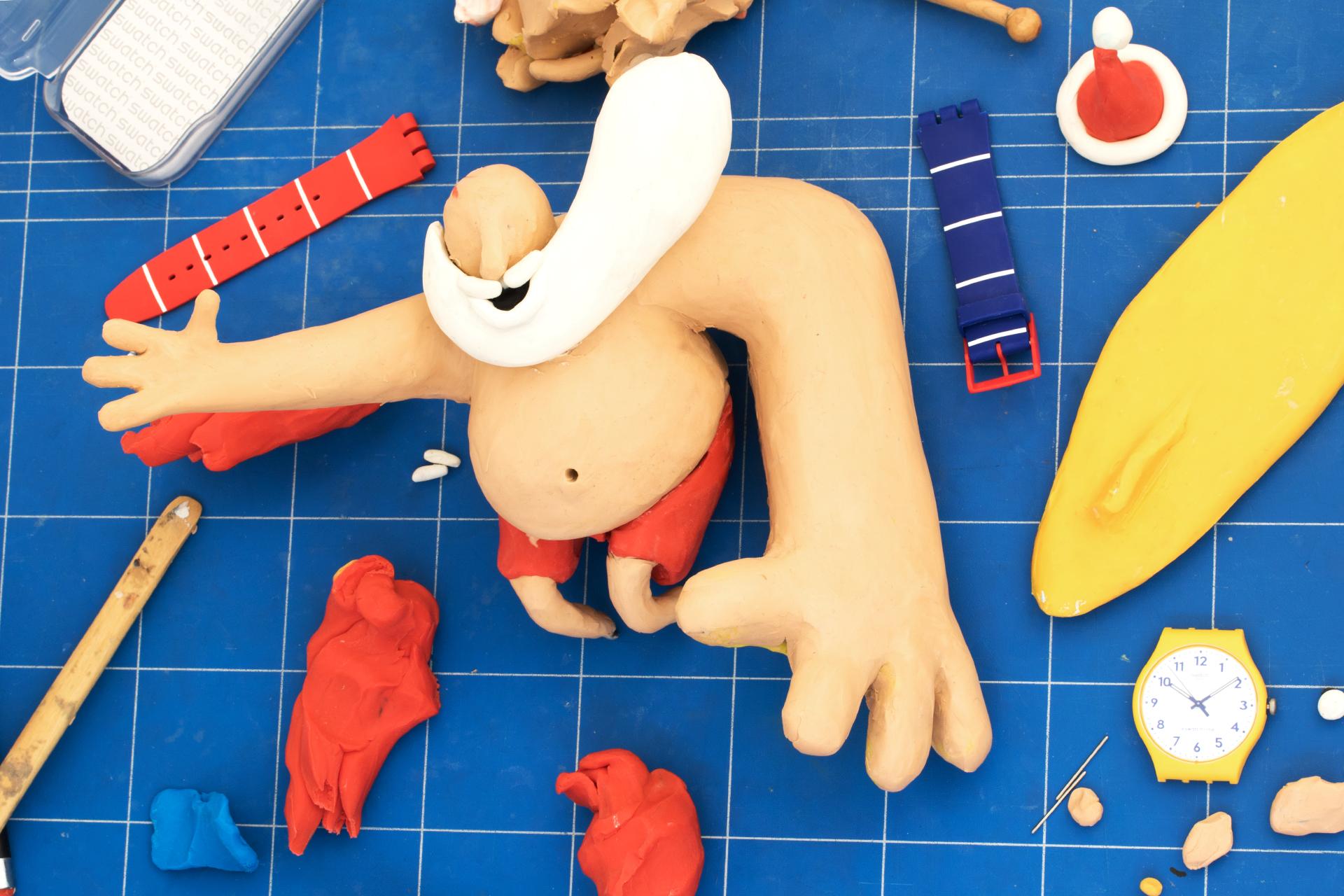 L'artwork in plastilina di Stefano Colferai per Swatch | Collater.al