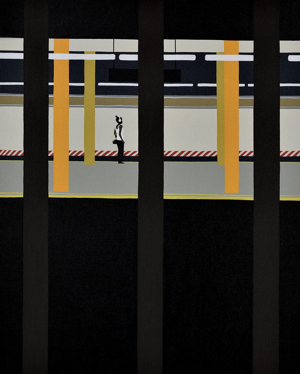 Backs, solitudine e isolamento nei dipinti di Gwen Yip | Collater.al 1