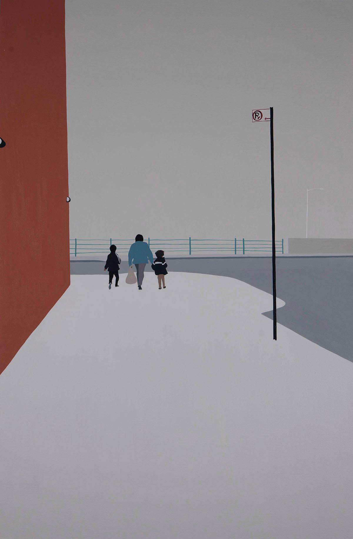 Backs, solitudine e isolamento nei dipinti di Gwen Yip | Collater.al 3