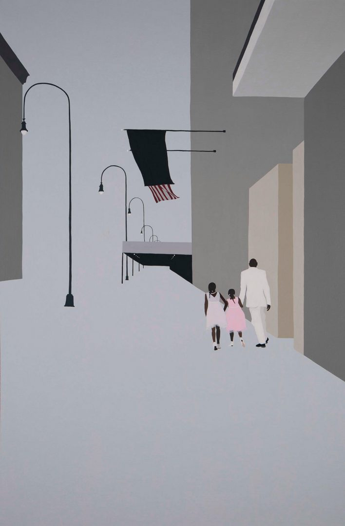 Backs, loneliness and isolation in Gwen Yip paintings