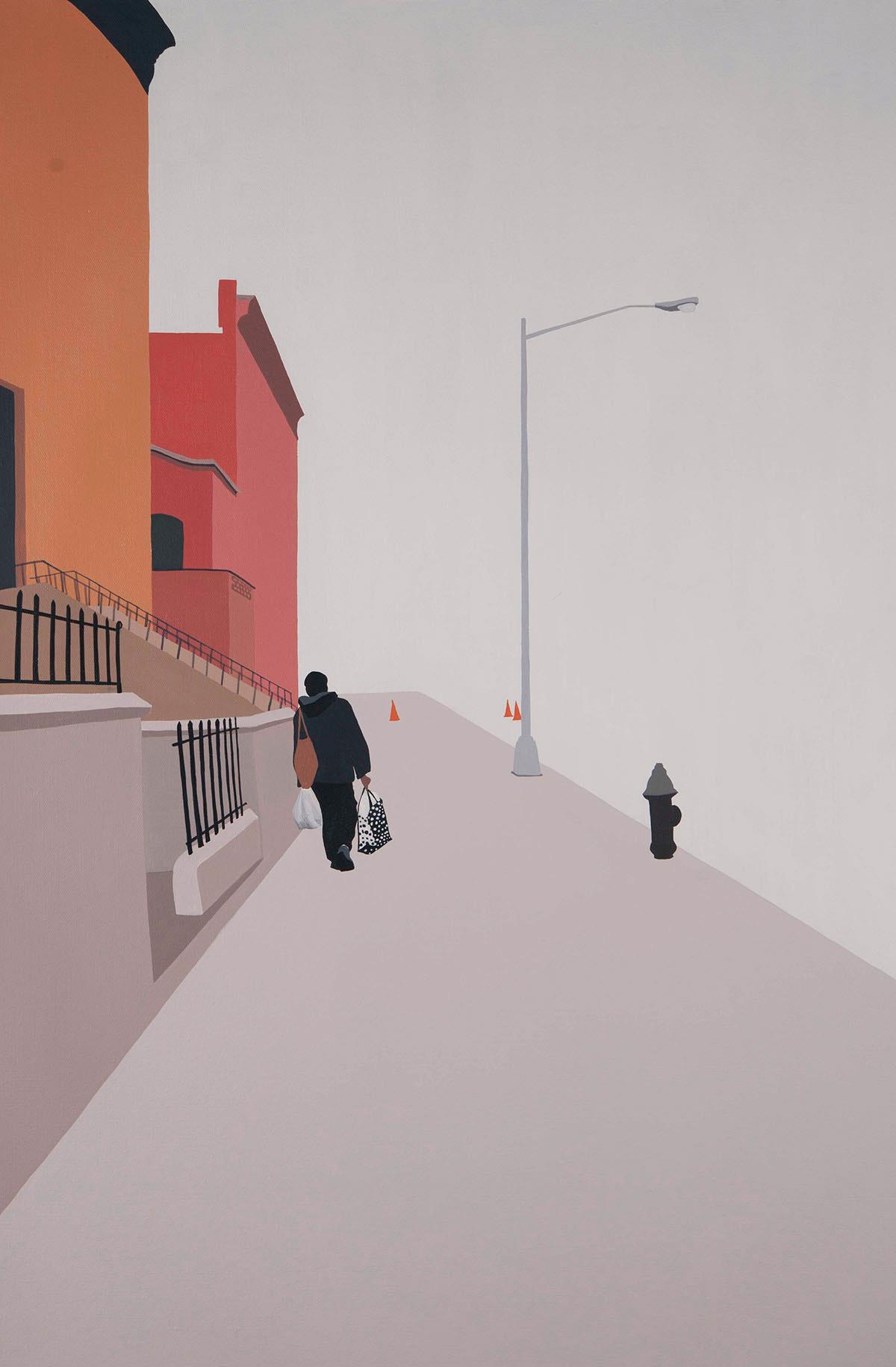 Backs, solitudine e isolamento nei dipinti di Gwen Yip | Collater.al 5