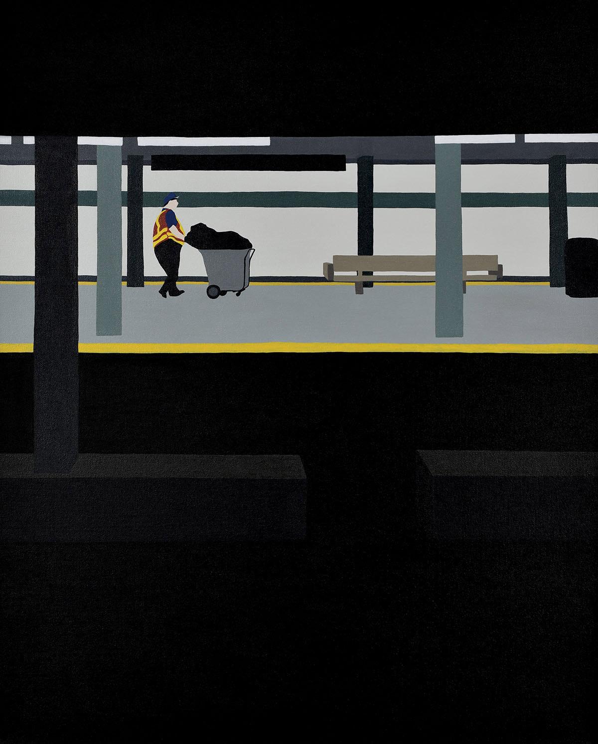 Backs, solitudine e isolamento nei dipinti di Gwen Yip | Collater.al 7