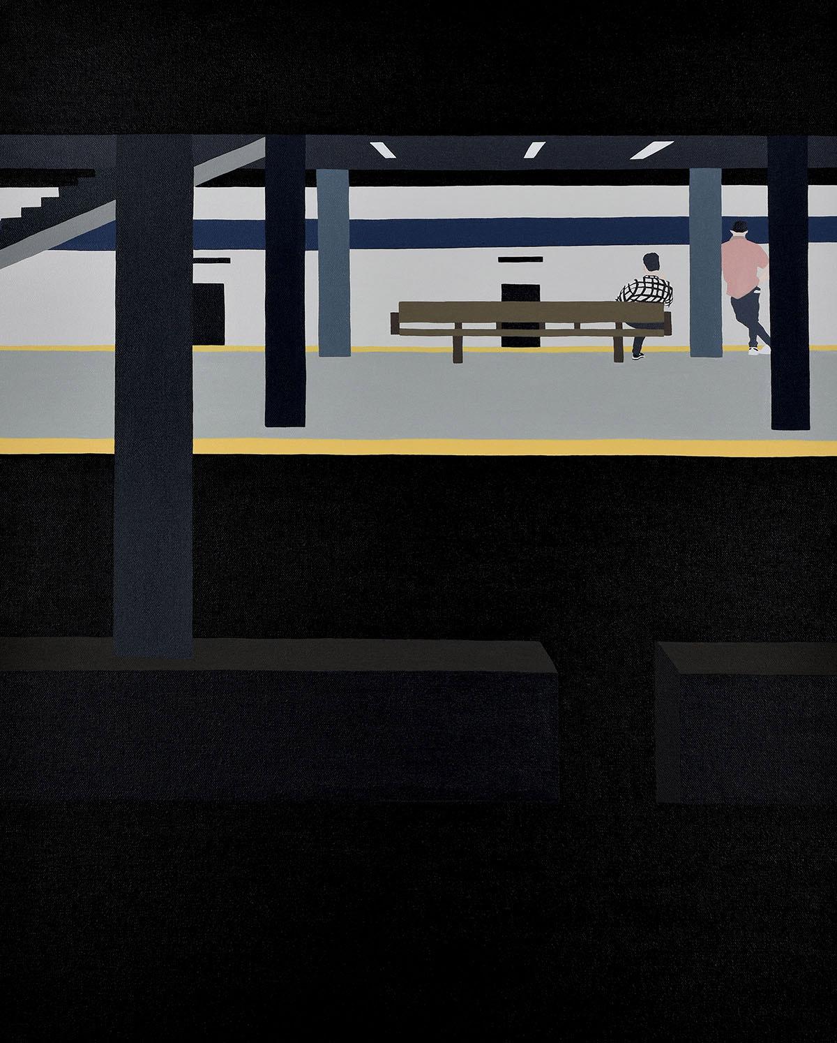 Backs, solitudine e isolamento nei dipinti di Gwen Yip | Collater.al 8