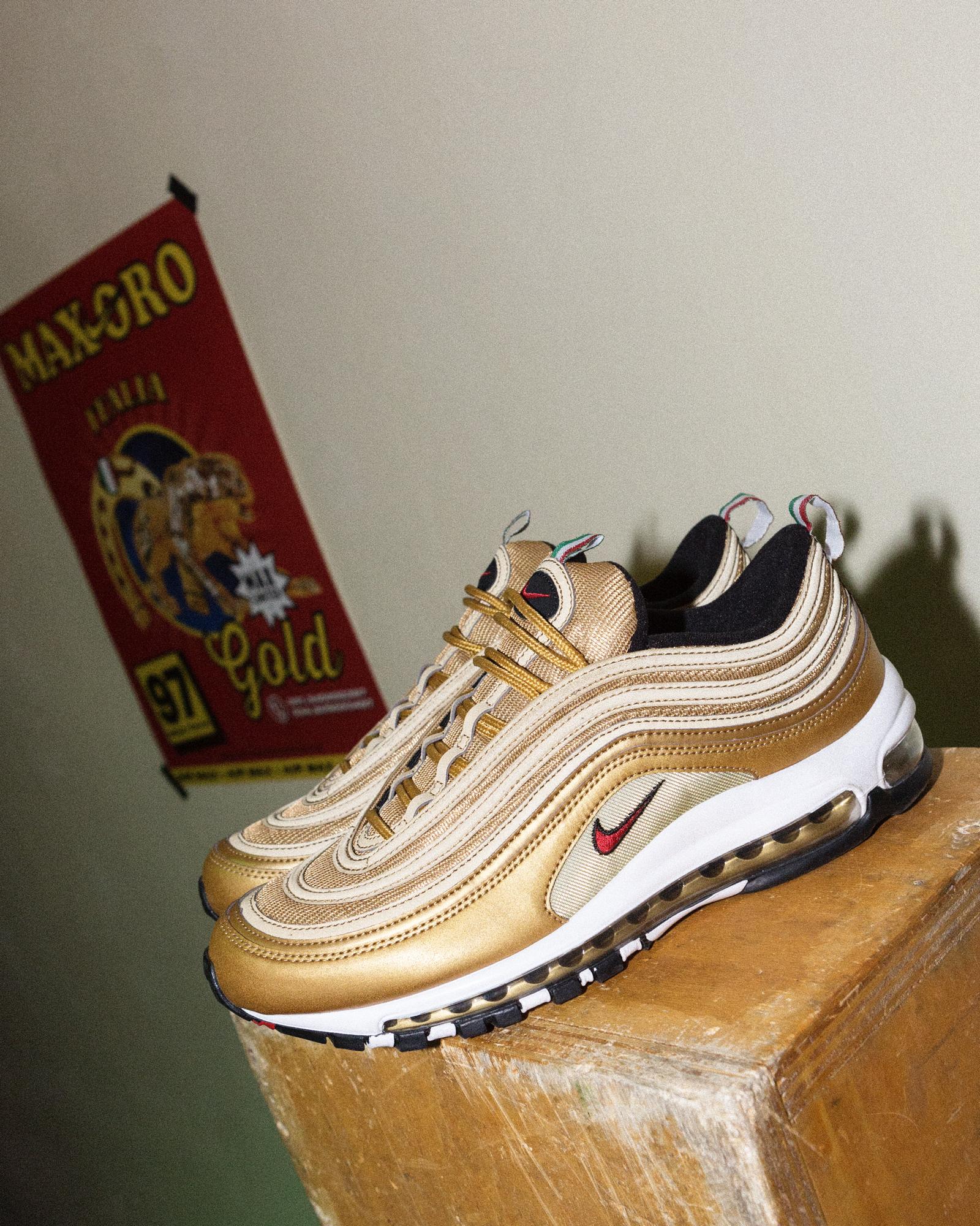outlet 45986 a52da Il lancio delle Nike Air Max 97 Gold Italian Flag al compro ...