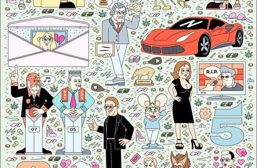 La cultura pop italiana nelle illustrazioni di Filippo Fontana
