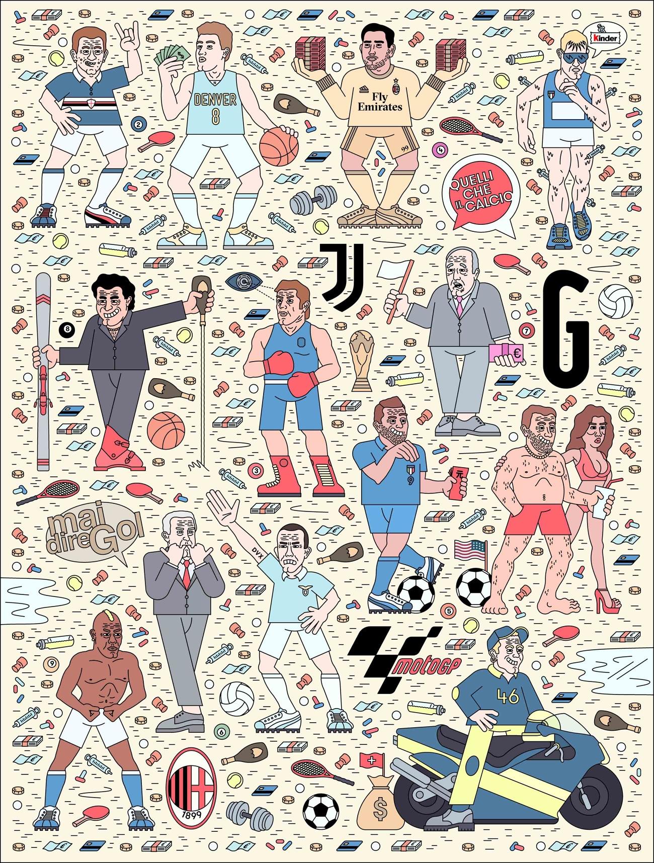 La cultura pop italiana nelle illustrazioni di Filippo Fontana | Collater.al 4