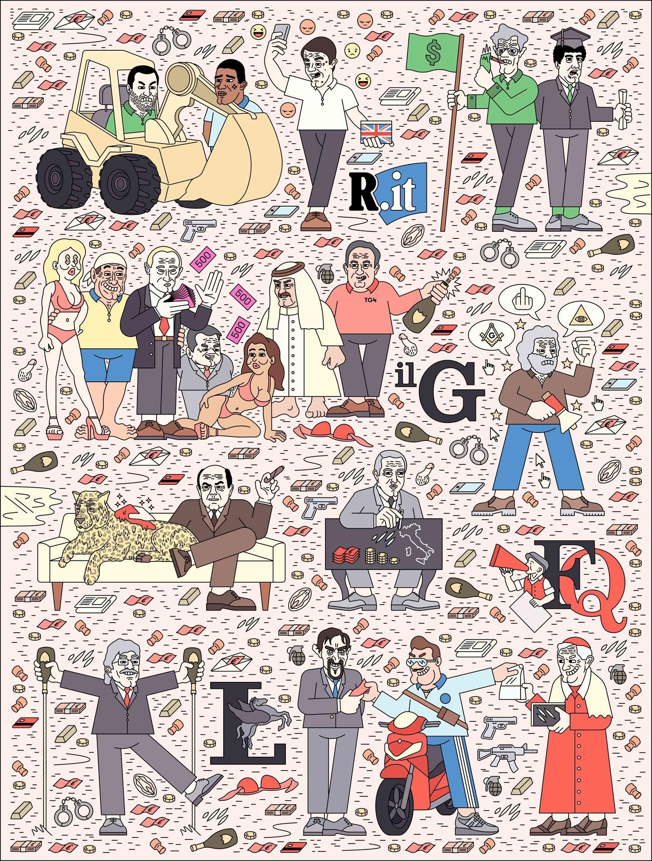 La cultura pop italiana nelle illustrazioni di Filippo Fontana | Collater.al 5