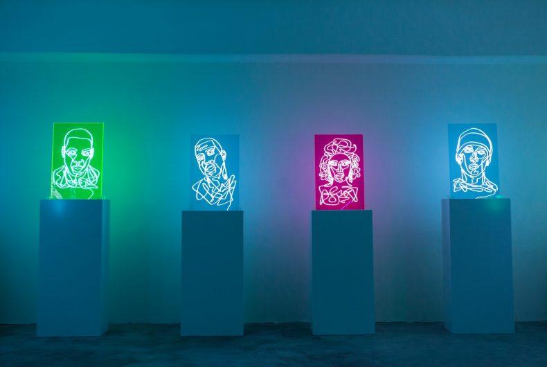 Neon Rap Portraits , i ritratti al neon di Natalie Wong