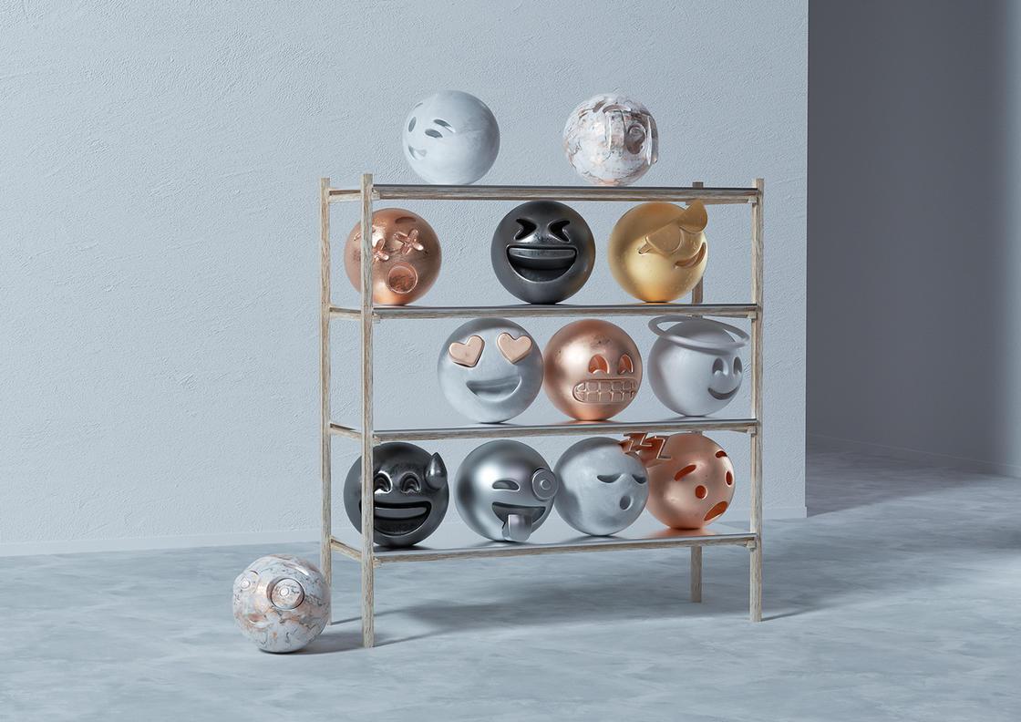 Sculptmojis, quando emoji e scultura classica si incontrano | Collater.al 11