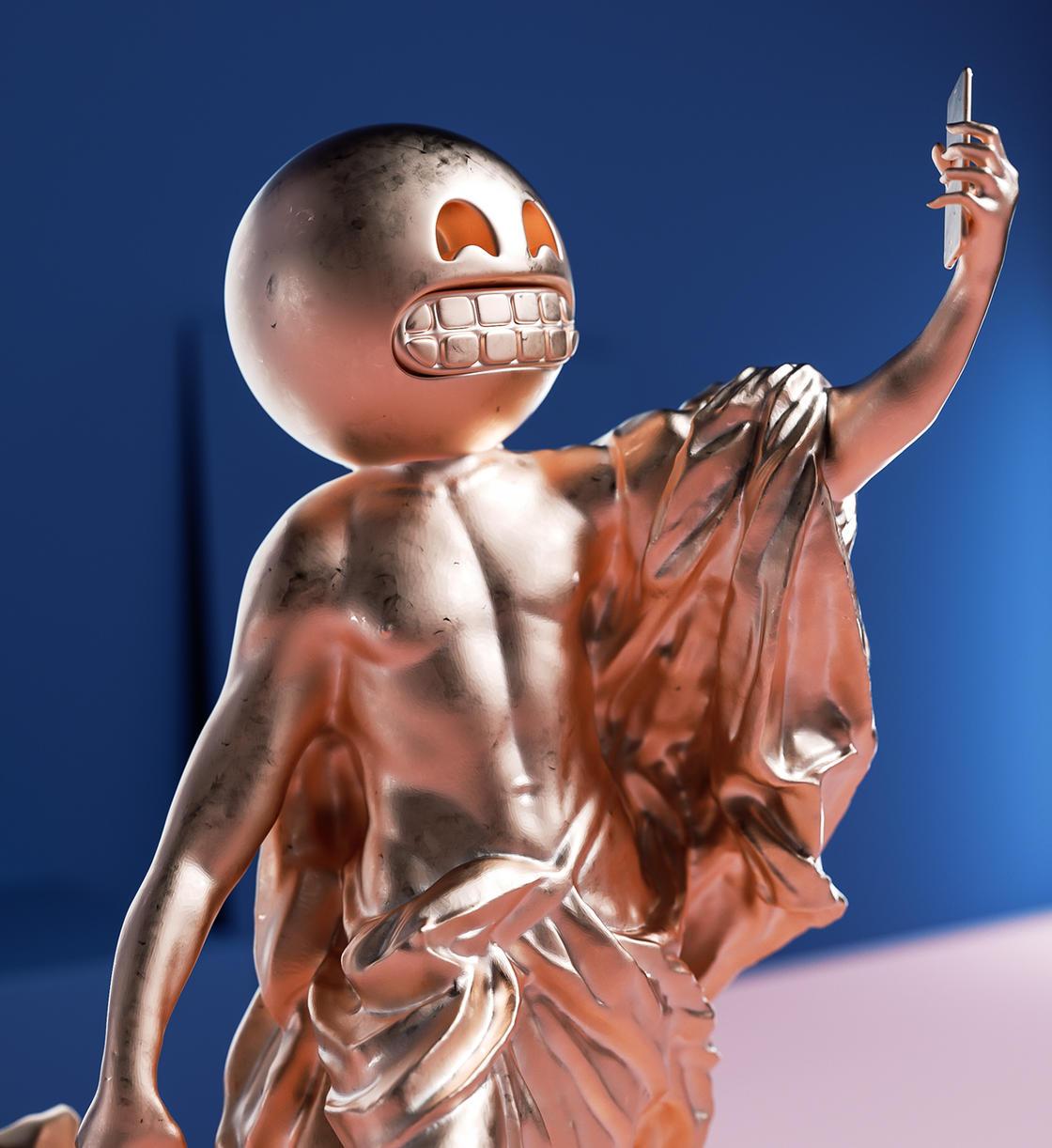 Sculptmojis, quando emoji e scultura classica si incontrano | Collater.al 2