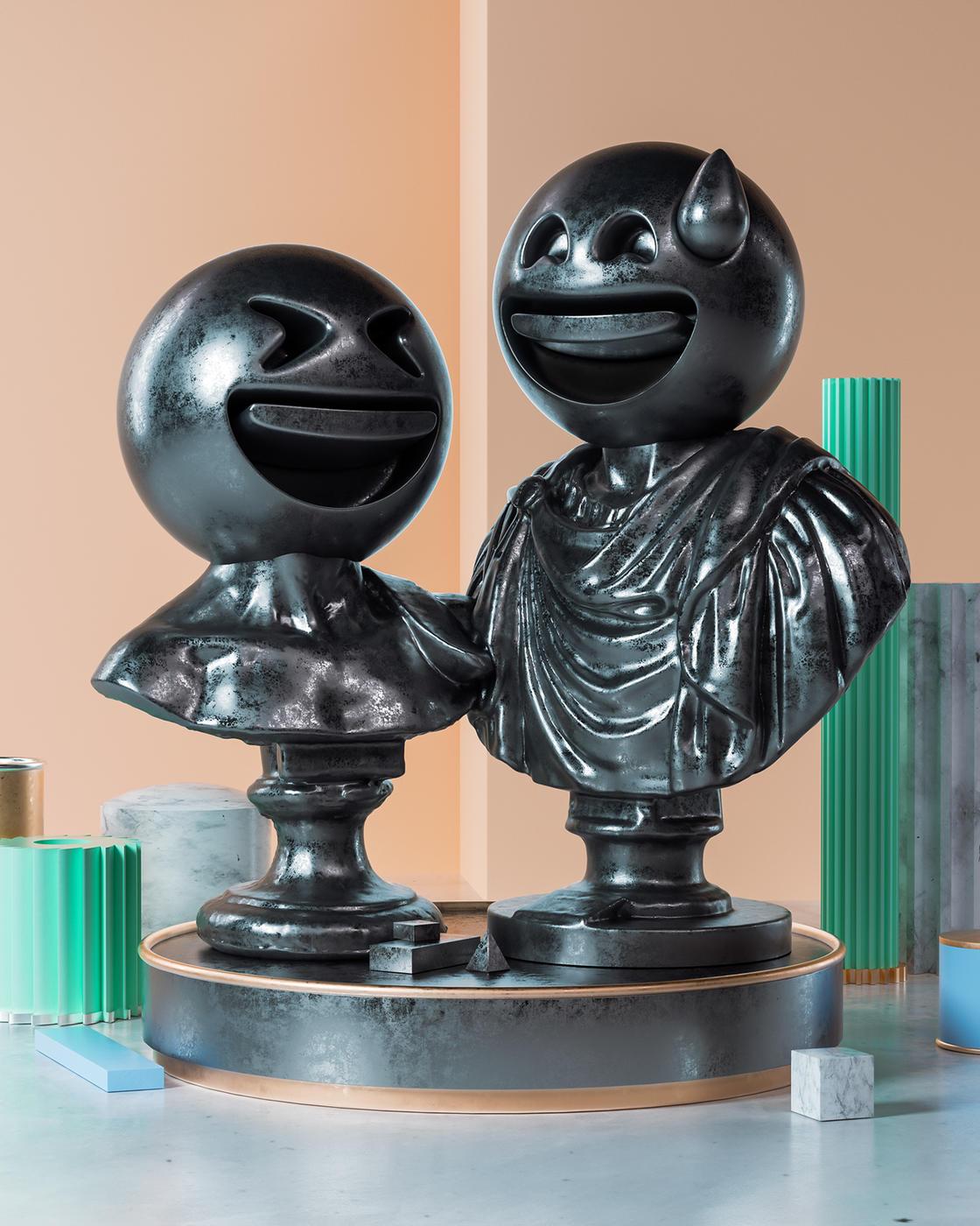 Sculptmojis, quando emoji e scultura classica si incontrano | Collater.al 3