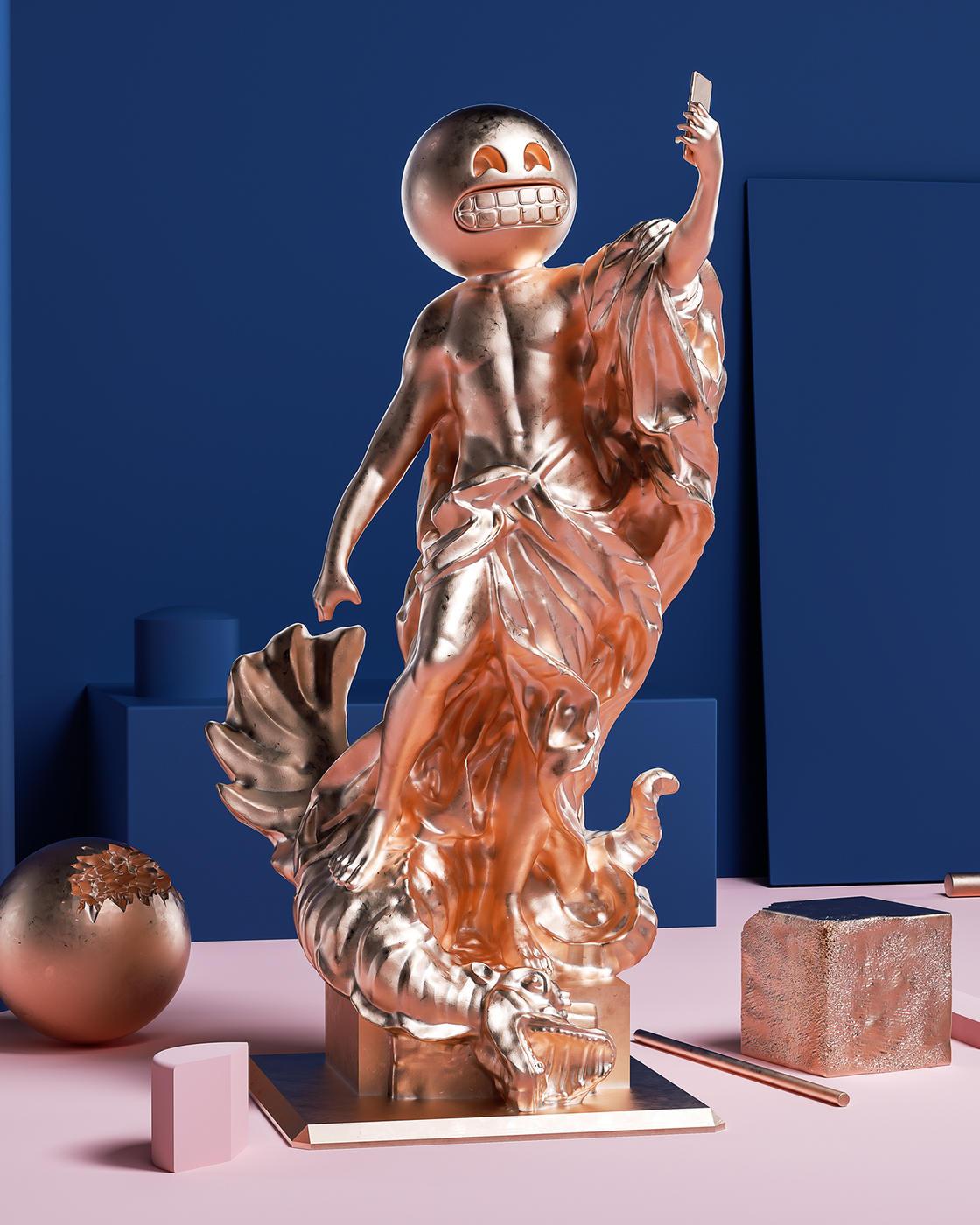 Sculptmojis, quando emoji e scultura classica si incontrano | Collater.al 5