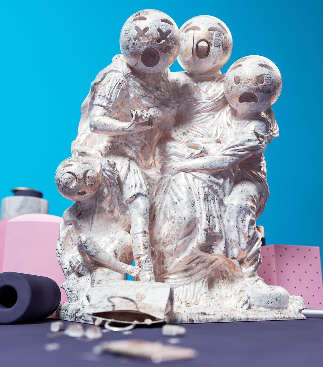 Sculptmojis, quando emoji e scultura classica si incontrano | Collater.al 6