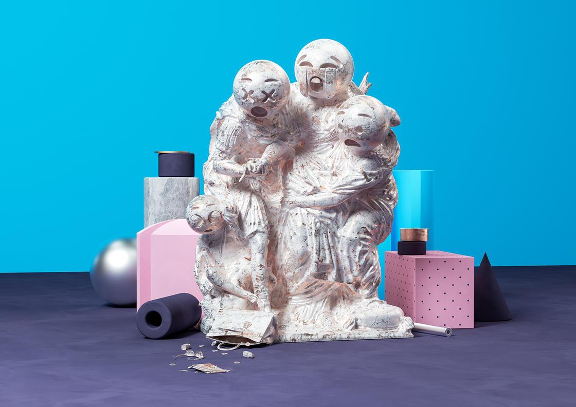 Sculptmojis, quando emoji e scultura classica si incontrano | Collater.al 7