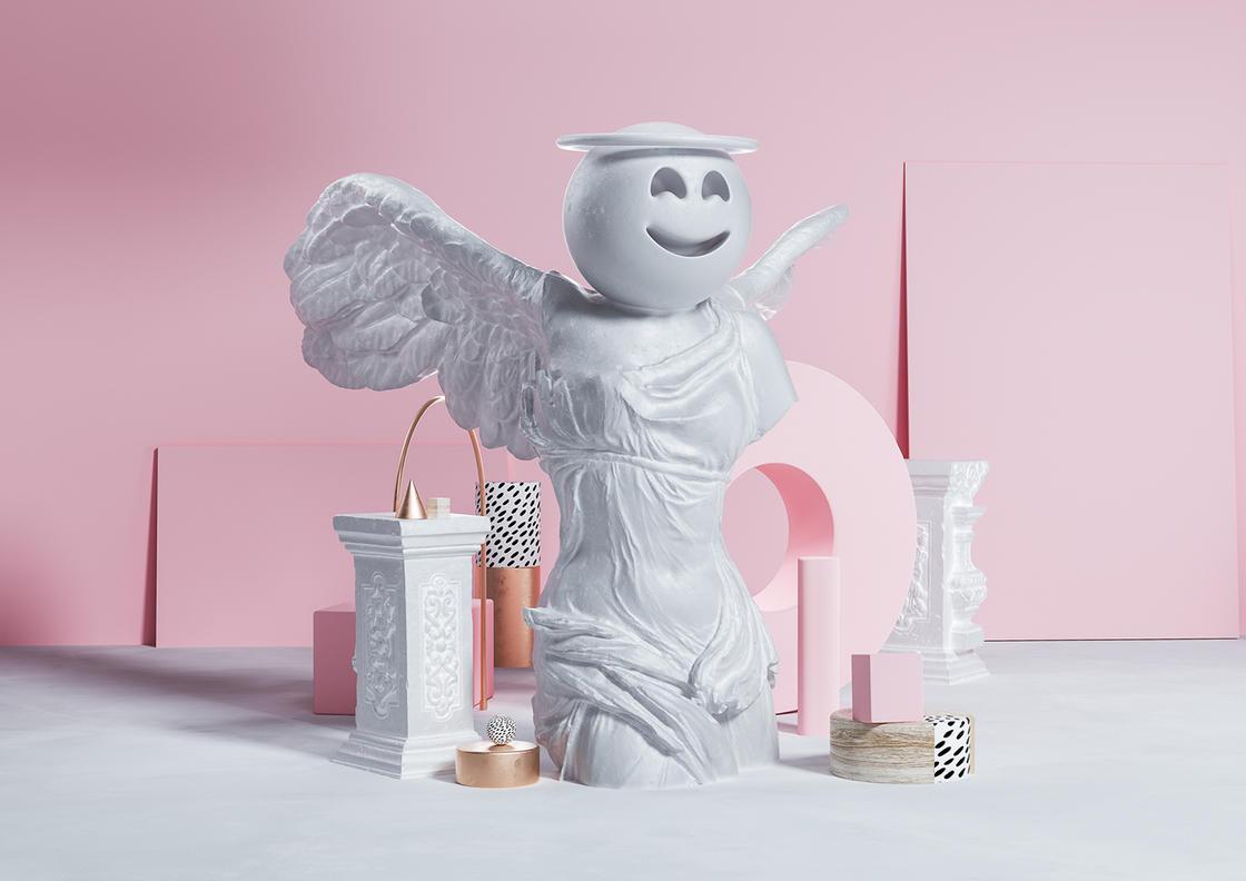 Sculptmojis, quando emoji e scultura classica si incontrano | Collater.al 8