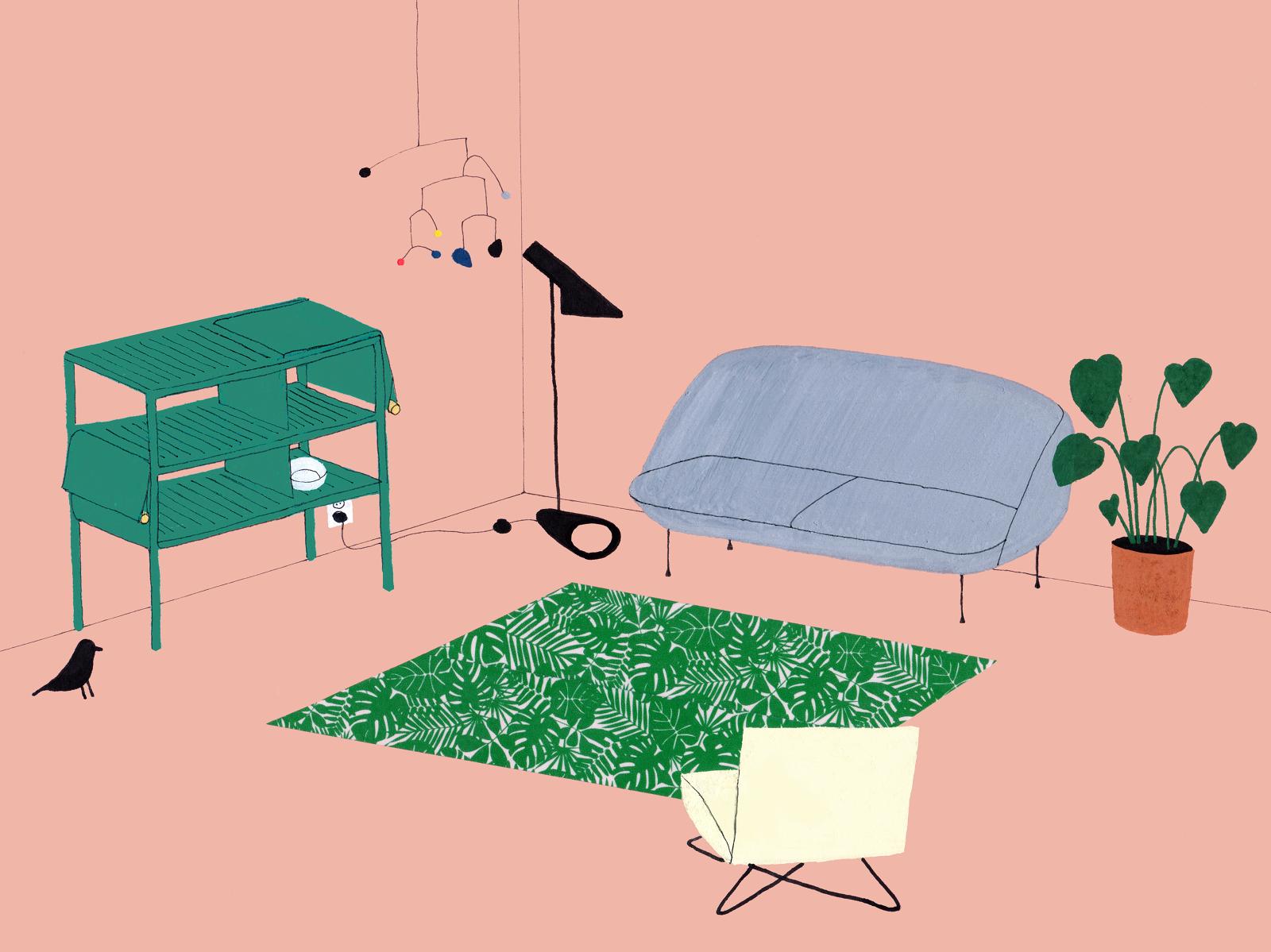 interior design illustrato di Lianne Nixon   Collater.al 1