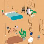 interior design illustrato di Lianne Nixon   Collater.al 10
