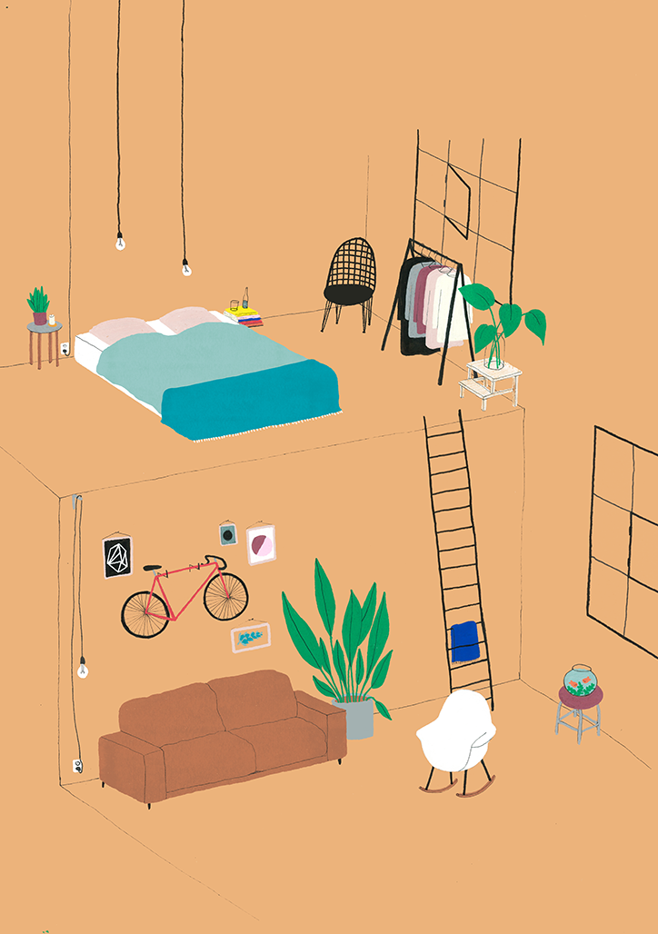 interior design illustrato di Lianne Nixon | Collater.al 10