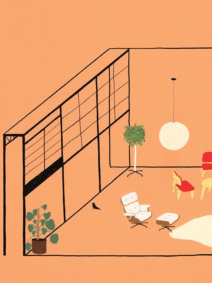 interior design illustrato di Lianne Nixon   Collater.al 11