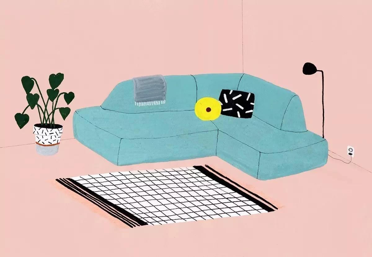 interior design illustrato di Lianne Nixon   Collater.al 15