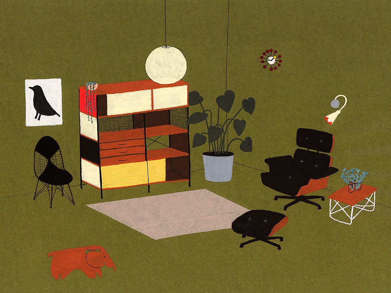 interior design illustrato di Lianne Nixon   Collater.al 16