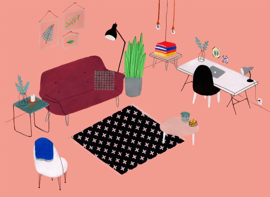 interior design illustrato di Lianne Nixon | Collater.al 2