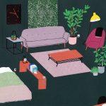interior design illustrato di Lianne Nixon | Collater.al 3