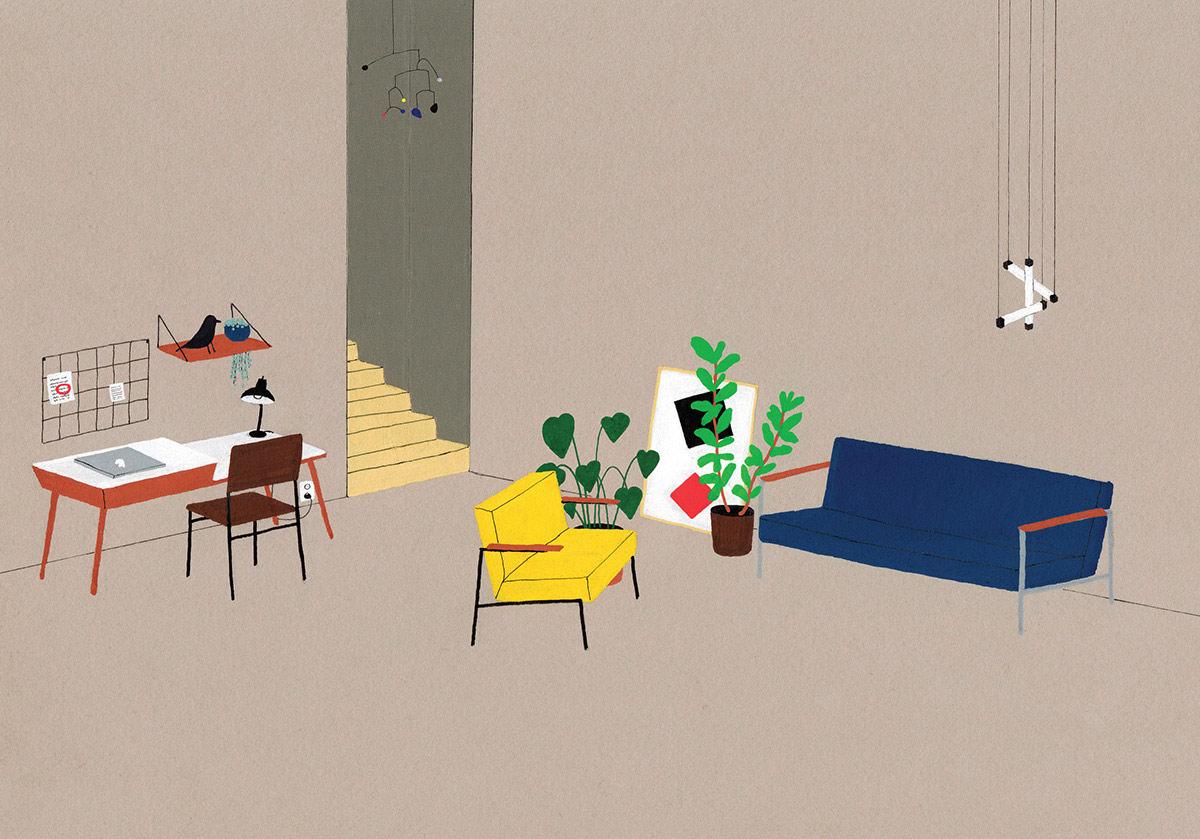 interior design illustrato di Lianne Nixon   Collater.al 4