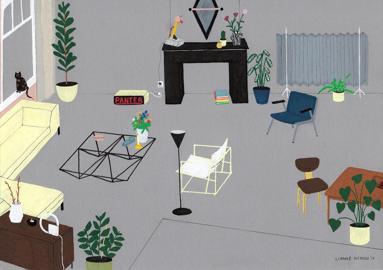 interior design illustrato di Lianne Nixon | Collater.al 5